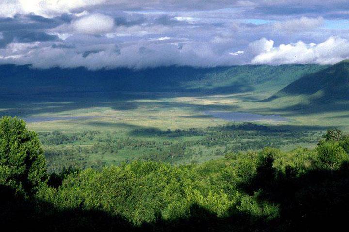 Afrika édenkertje, az önmagába omlott vulkánon.