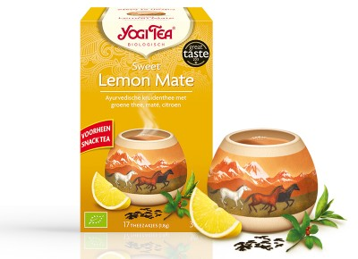 Yogi Bio édes citrom- mate tea, 17 filter