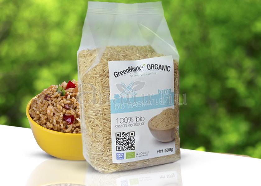 Greenmark Bio Basmati rizs (barna) 500 g